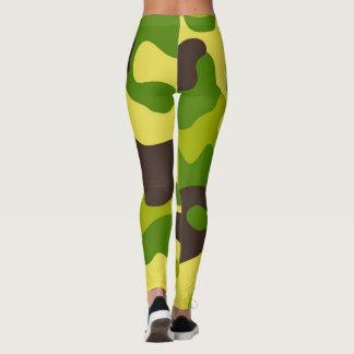 Legging Teste padrão sem emenda da cor da camuflagem