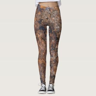 Legging textura da pedra oxidada
