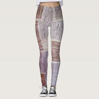 Legging Textura de couro original do artesanato do tapete