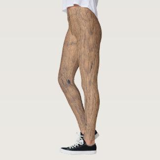 Legging Textura de madeira