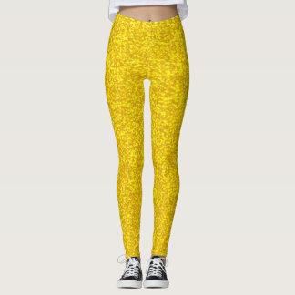 Legging Textura do brilho do ouro
