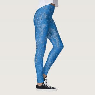 Legging Textura Mottled da pedra azul