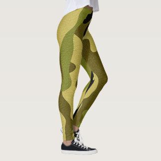 Legging Textura verde do exército da camuflagem