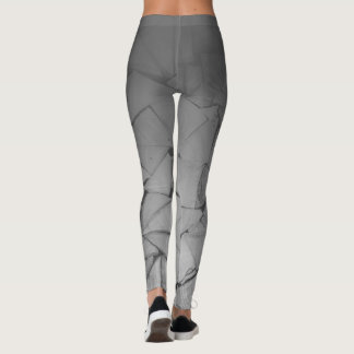 Legging Triângulo cinzento da textura