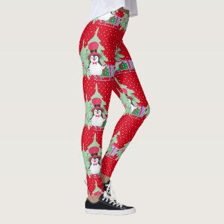 Legging Um pinguim festivo - 1
