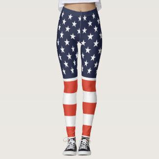 Legging Unido nós estamos caneleiras da bandeira americana