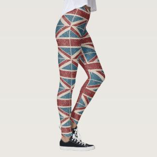 Legging Union Jack clássico, vermelho e azul