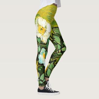 Legging Van Gogh, rosas selvagens