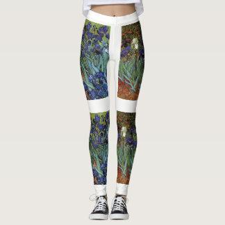 Legging Van Gogh torna iridescentes calças das caneleiras