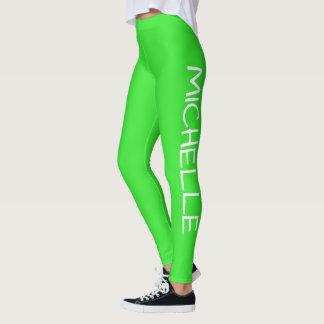 Legging Verde contínuo personalizado