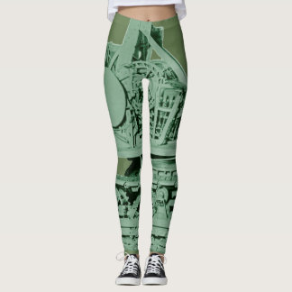 Legging Verde industrial da maquinaria robótico do metal