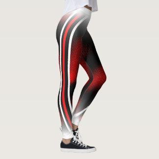 Legging vermelho+branco+preto