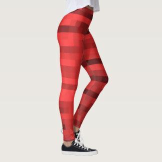 Legging Vermelho do teste padrão de PXL