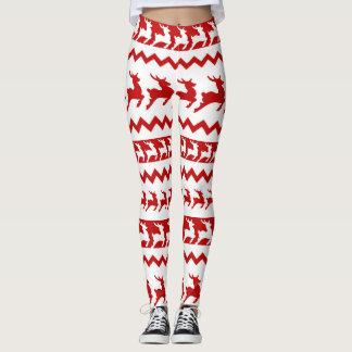 Legging Vermelho e branco da rena