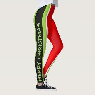 Legging Vermelho/verde/branco/Feliz Natal (Cust. Texto)