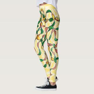 Legging Videiras torcidas no amarelo