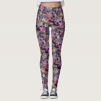 Legging Vintage floral (rosa escuro)