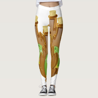 Legging Xarope do vidoeiro da comida do pulso aleatório