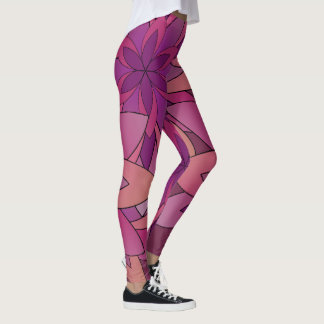 Legging Yoga calças Lotus colagem pink