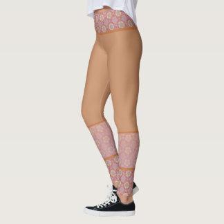 Legging Yoga hippy alaranjado rosa