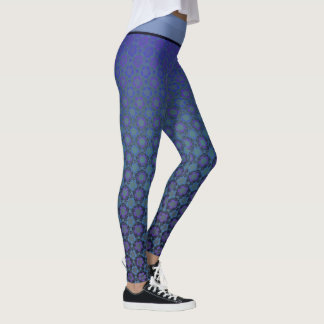Legging Yoga Lotus azul/lilás
