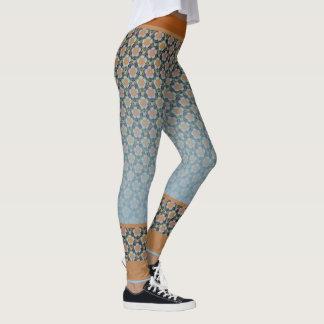 Legging Yoga Lotus ocker hellblau