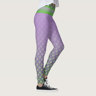 Legging Yoga Lotus verde lilás