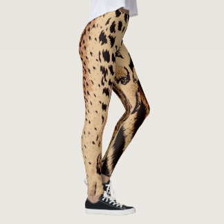 Legging Zebra do leopardo da chita & impressão animal do