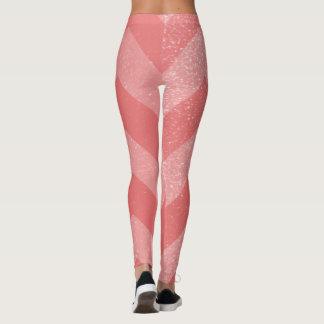 Legging Ziguezague coral cor-de-rosa do teste padrão | de
