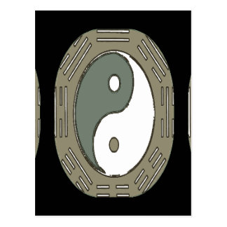 Lei da atração - Ying Yang Cartão Postal