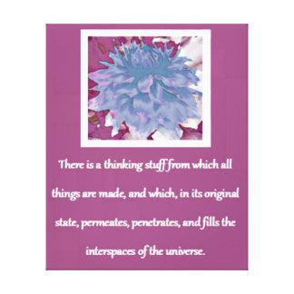 Lei de citações da atração - dália impressão em tela