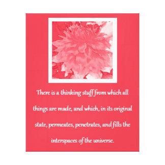 Lei de citações da atração - dália vermelha impressão em tela