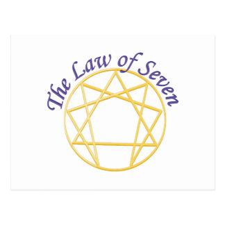 Lei de sete cartão postal