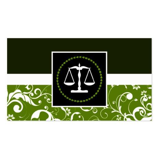 lei profissional: escalas de justiça do damasco cartoes de visitas