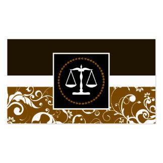 lei profissional: escalas de justiça do damasco cartoes de visita