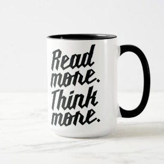 Leia mais pensam mais caneca