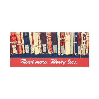 Leia mais, preocupe menos canvas