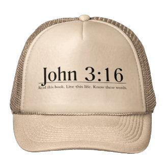 Leia o 3:16 de John da bíblia Boné