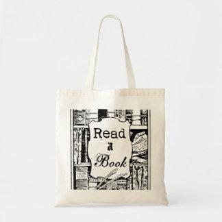 Leia um livro bolsa tote