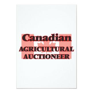 Leiloeiro agrícola canadense convite 12.7 x 17.78cm