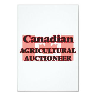 Leiloeiro agrícola canadense convite 8.89 x 12.7cm