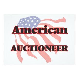 Leiloeiro americano convite 12.7 x 17.78cm