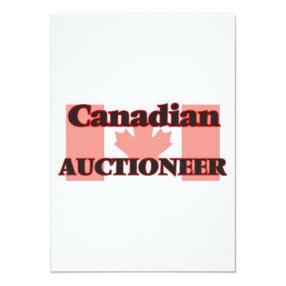 Leiloeiro canadense convite 12.7 x 17.78cm