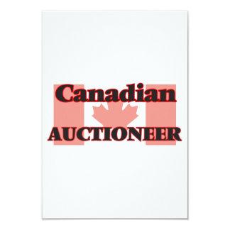 Leiloeiro canadense convite 8.89 x 12.7cm