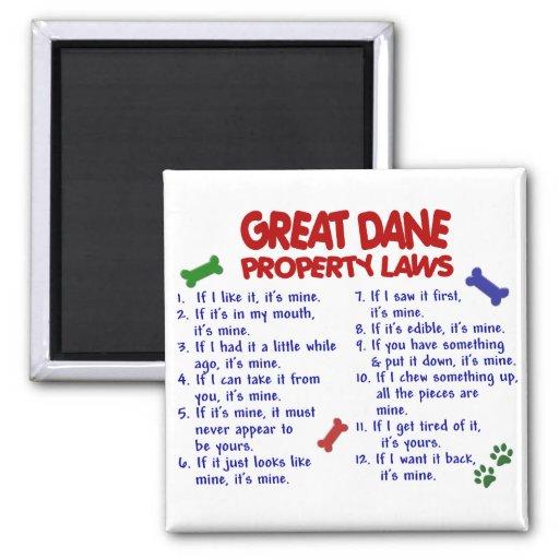 Leis 2 da propriedade de GREAT DANE Imãs