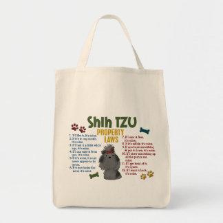 Leis 4 da propriedade de Shih Tzu Bolsas De Lona