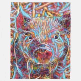 Leitão funky animal de ArtStudio- Cobertor De Lã