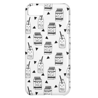 Leite & biscoitos - comida/Andrea brancas pretas Capa Para iPhone 5C