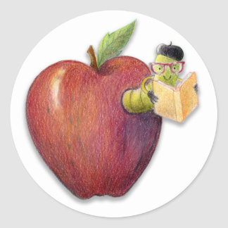 Leitor ávido de Apple Adesivos Redondos
