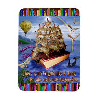 Leitores lunáticos do navio do livro das citações ímã